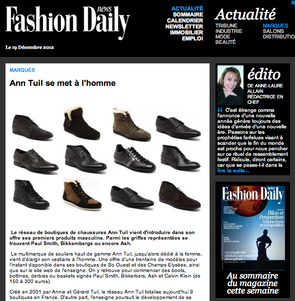 Fashion daily news pour AT